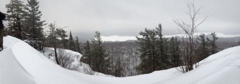 Pan shot from the peak